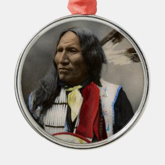 Oglalaスー族1899のインディアンのヴィンテージの叫び メタルオーナメント