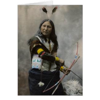 Oglalaスー族1899のインディアンの叫び カード