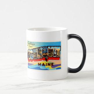 Ogunquitメイン私古いヴィンテージ旅行記念品 モーフィングマグカップ