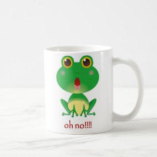 Ohいいえ! カエル コーヒーマグカップ