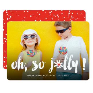 Ohそうすてき! Pom Pomのブラシのかわいい休日の写真カード 12.7 X 17.8 インビテーションカード