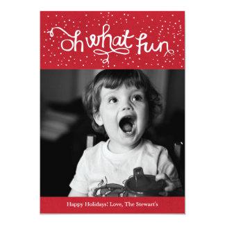 OhどんなおもしろいのScriptyの休日の写真カード-赤 カード