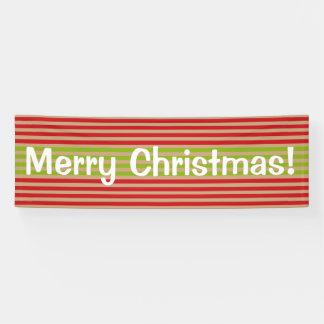Ohどんなおもしろい! クリスマスのストライプでカスタムな旗 横断幕