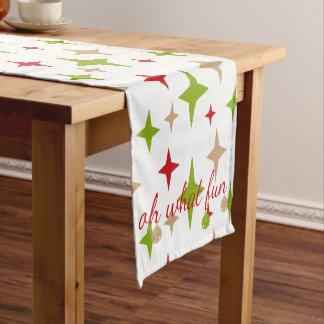 Ohどんなおもしろい! クリスマスのテーブルのランナー ショートテーブルランナー