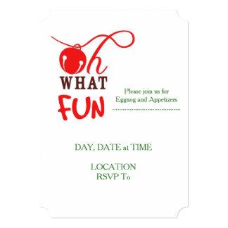 Ohどんなおもしろい! クリスマスのパーティの招待状 カード