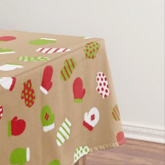 Ohどんなおもしろい! クリスマスのミトンのテーブルクロス テーブルクロス