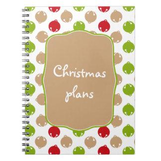 Ohどんなおもしろい! クリスマス鐘のカスタムのノート ノートブック