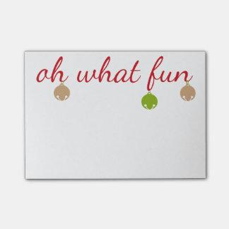 Ohどんなおもしろい! クリスマス鐘のポスト・イットのパッド ポストイット