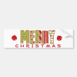 Ohどんなおもしろい! メリークリスマスのデザイン バンパーステッカー