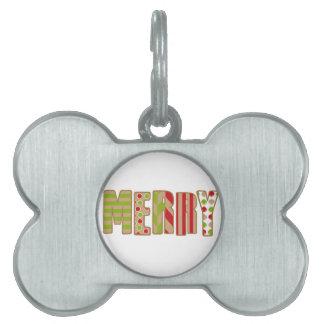 Ohどんなおもしろい! メリークリスマスのデザイン ペットネームタグ