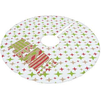 Ohどんなおもしろい! メリークリスマスの鐘の木のスカート ブラッシュドポリエステルツリースカート
