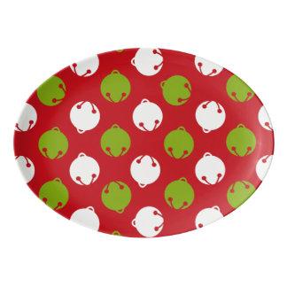 Ohどんなおもしろい! 大皿に役立つクリスマス鐘 磁器大皿