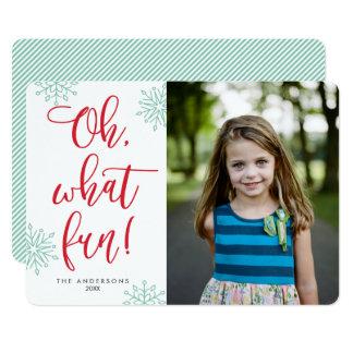 Ohどんなおもしろい! 書道|の休日の写真カード 12.7 x 17.8 インビテーションカード