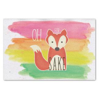 Ohキツネの為の水彩画のために縞で飾ります 薄葉紙
