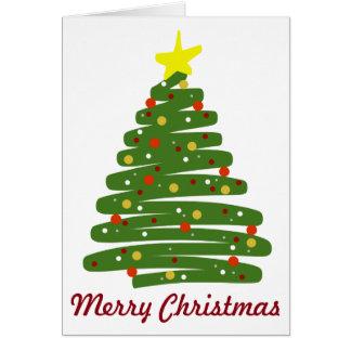 Ohクリスマスツリー カード