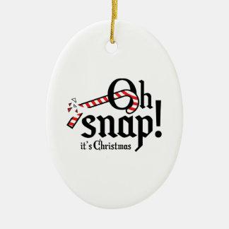 Ohスナップ! それはクリスマスです セラミックオーナメント