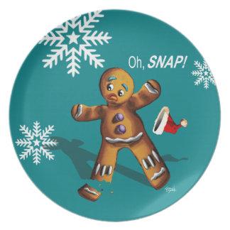 Ohスナップ! クッキーの交換のクリスマス・パーティ|のティール(緑がかった色) プレート