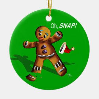 Ohスナップ! クリスマスのオーナメント(緑) セラミックオーナメント