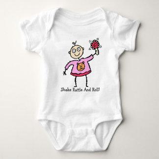 Ohラッセル音の乳児のTシャツを持つそうかわいいベビー ベビーボディスーツ