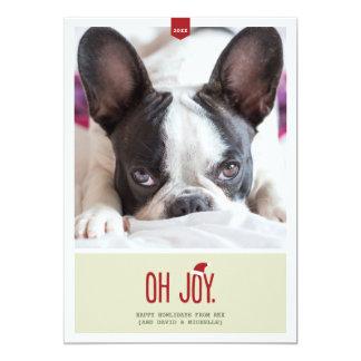 Oh喜び|のおもしろいな休日の写真カード 12.7 X 17.8 インビテーションカード