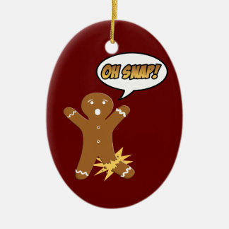 Oh急なジンジャーブレッドマンのクッキーのクリスマスのオーナメント セラミックオーナメント