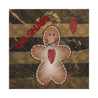 Oh急なジンジャーブレッドマン|のクリスマス キャンバスプリント