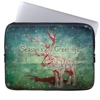 Oh Deer~の私のメリークリスマス! |のラップトップスリーブ ラップトップスリーブ
