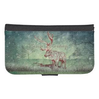 Oh Deer~の私のメリークリスマス!  の銀河系S5/S4のウォレットケース