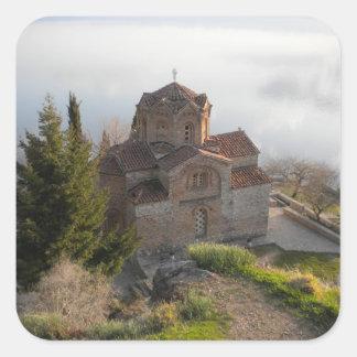 Ohridの湖OhridのSt. Jovan教会、 スクエアシール