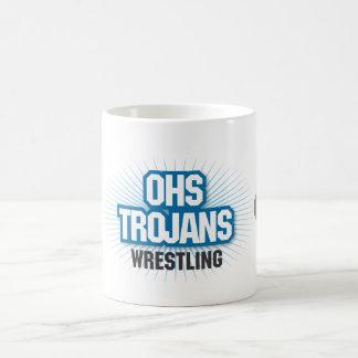 OHSのトロイのレスリングのマグ コーヒーマグカップ