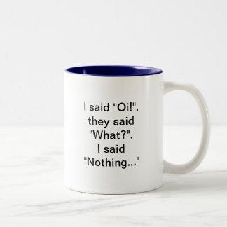 Oi何何も。 ビルベイリーのマグ ツートーンマグカップ