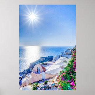 oia417822 oia417822 oiaのsantoriniの夏ギリシャ ポスター