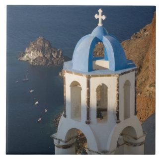 Oia 2のSantoriniの町のギリシャそしてギリシャの島 タイル