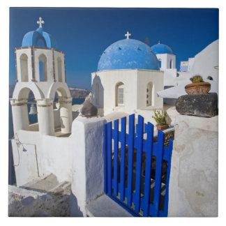 Oia 3のSantoriniの町のギリシャそしてギリシャの島 タイル
