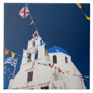 Oia 4のSantoriniの町のギリシャそしてギリシャの島 タイル