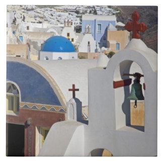 Oia 5のSantoriniの町のギリシャそしてギリシャの島 タイル