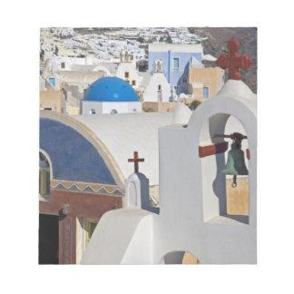 Oia 5のSantoriniの町のギリシャそしてギリシャの島 ノートパッド
