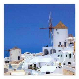 Oia、Santorini、ギリシャの風車 カード