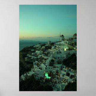 Oia、Santorini ポスター