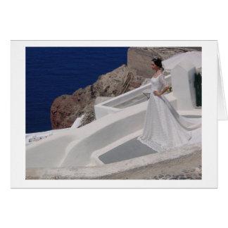 Oia、Santorini -花嫁 カード