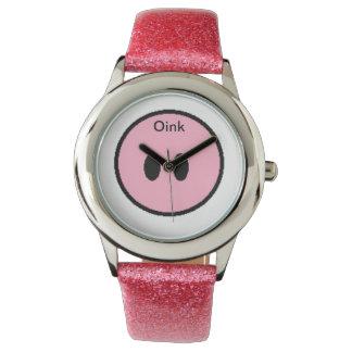 Oink豚のような鼻の腕時計 腕時計