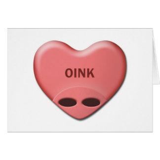 """""""OINK""""バレンタインカード カード"""