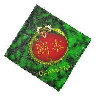 Okamotoのモノグラムのドラゴン バンダナ