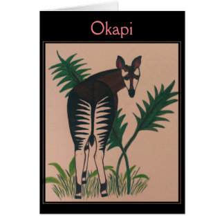 Okapi Illustration カード