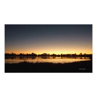 OKAVANGOのデルタの日没 フォトプリント