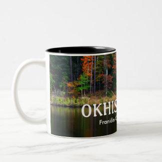 OKHISSA湖-美しいフランクリン郡、MS ツートーンマグカップ