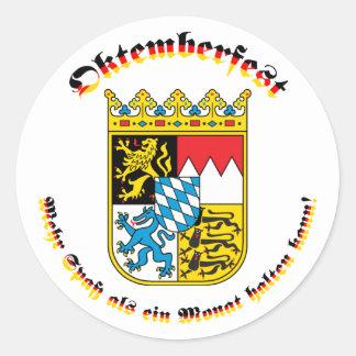 Oktemberfest mitのbayrischem Wappen ラウンドシール