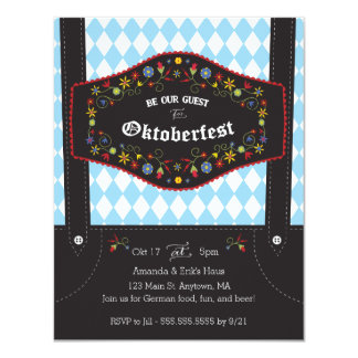Oktoberfest (Octoberfest) German Party Invitation カード