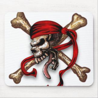 Olの海賊スカル マウスパッド