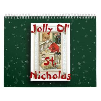 Ol 2017年のすてきなセントニコラスのカレンダー カレンダー